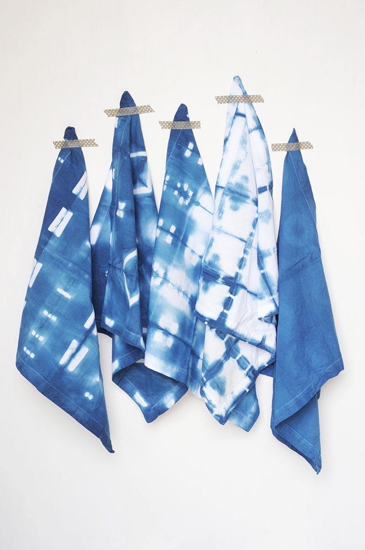 DIY Shibori Indigo Napkins by Alice & Lois
