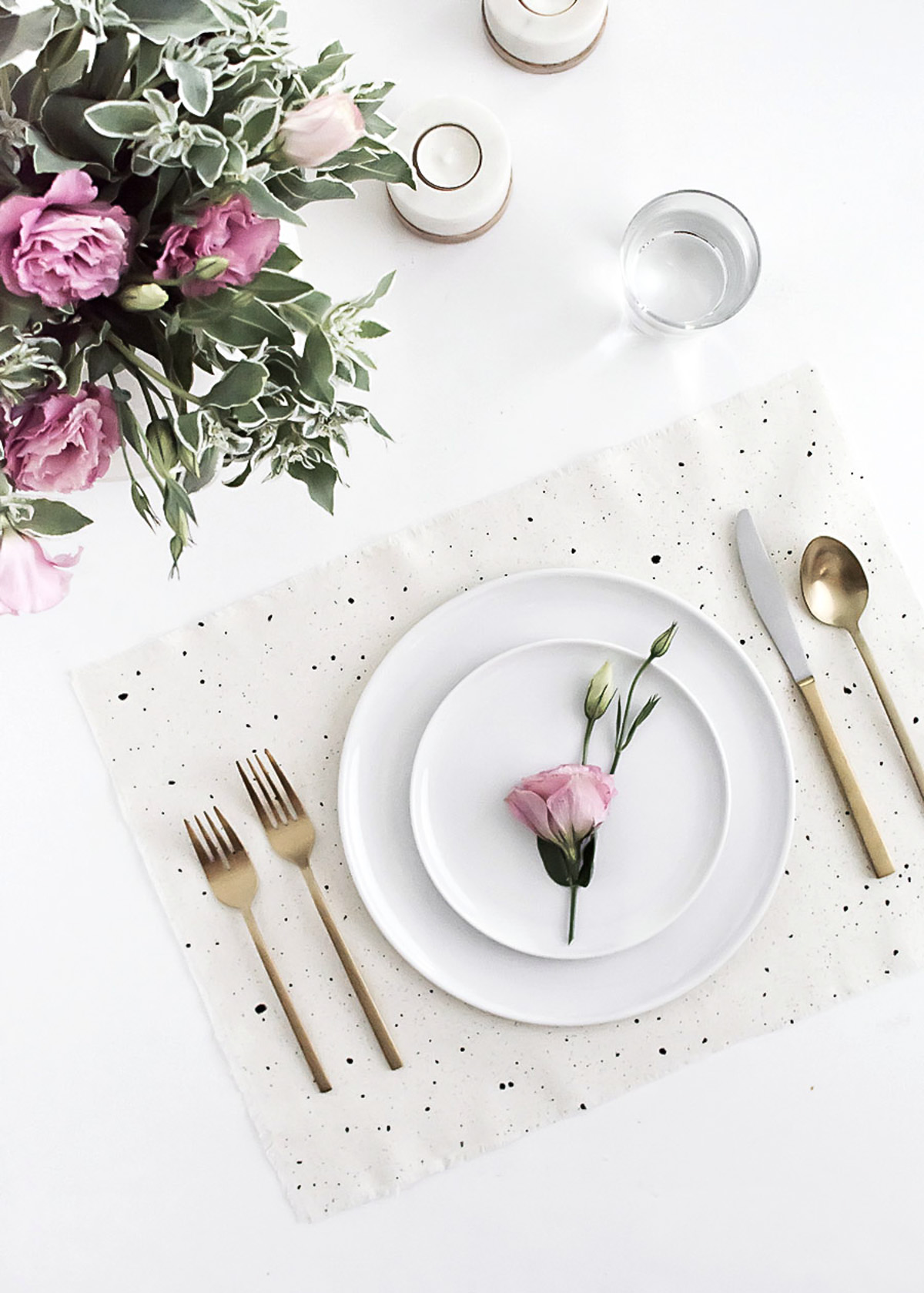 DIY Speckled Placemats by Homey oh My