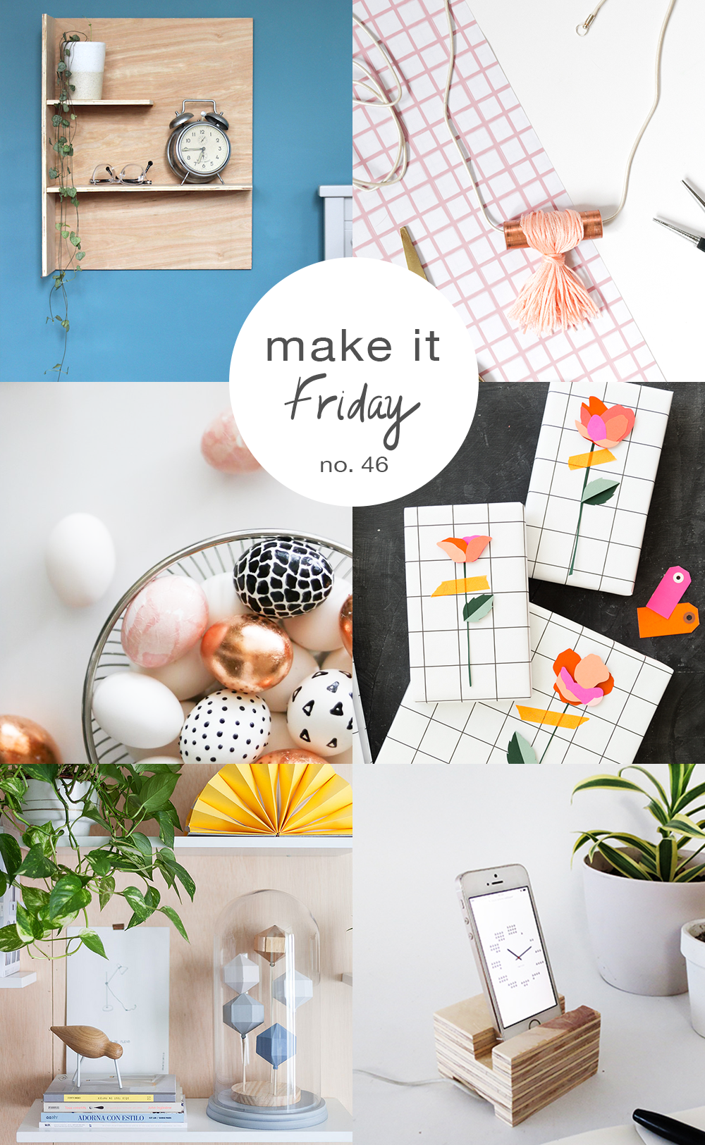 Make it Friday: Plywood and Pastels // DIY ideas to make this weekend via @idlehandsawake