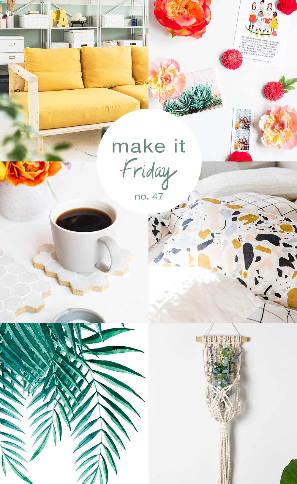 Make it Friday colorful DIY roundup via Idle Hands Awake