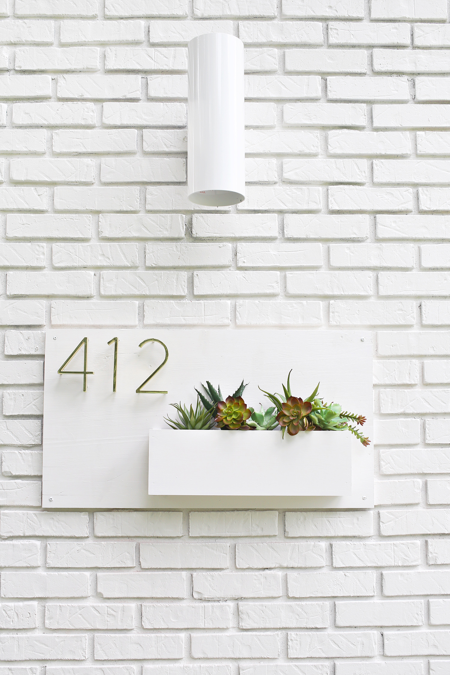 Modern House Number Planter by A Beautiful Mess