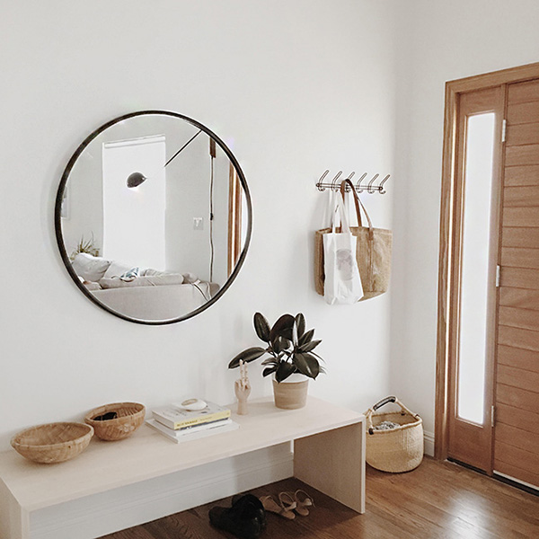 Warm Minimal Entryway Inspiration - Almost Makes Perfect