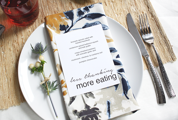 Cheeky Thanksgiving Menu Printable by Idle Hands Awake