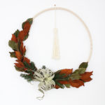 DIY Boho Winter Hula Hoop Wreath