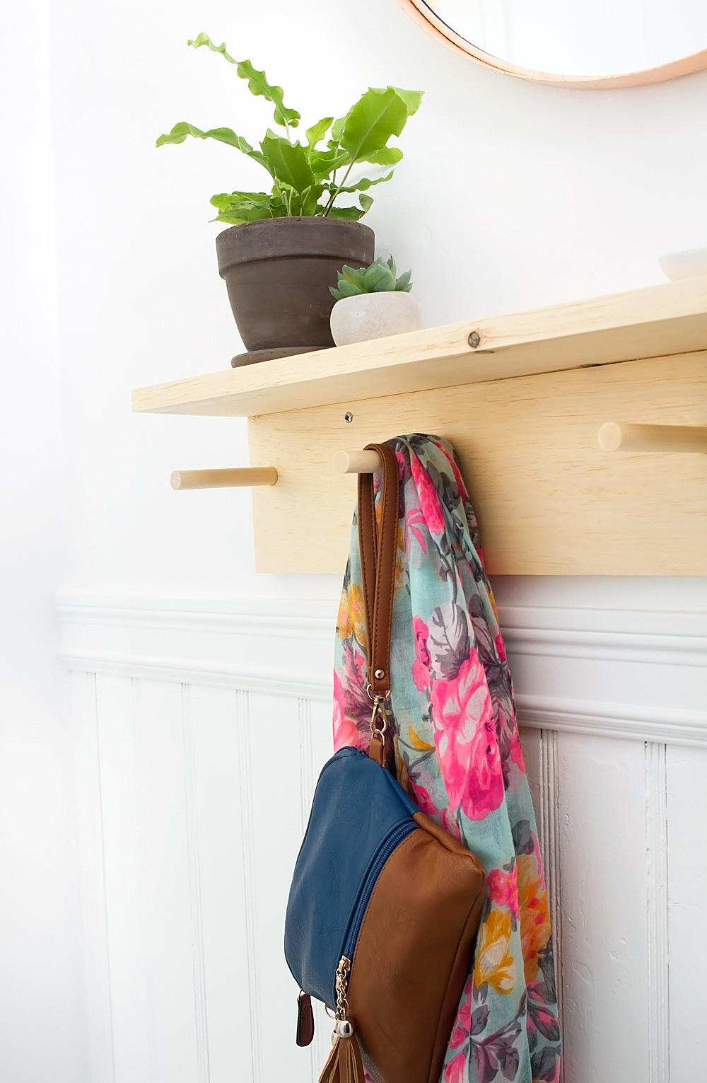 Minimal DIY Entryway Coat Rack