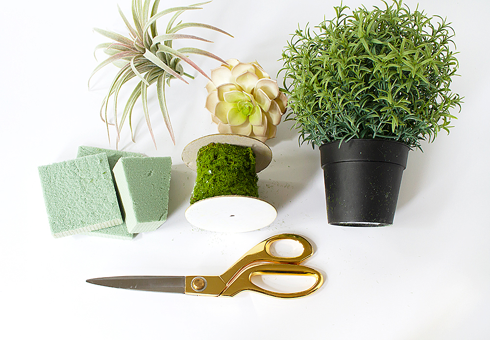 Ikea hack make a diy faux succulent planter from a box for Faux cactus ikea