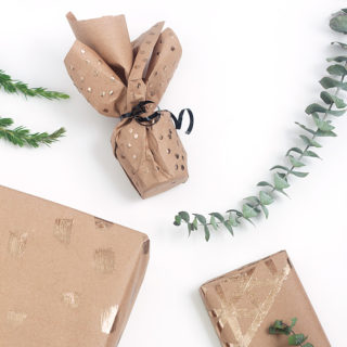 DIY Gold Foil Wrapping Paper @ Idle Hands Awake