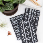 Make these DIY Mud Cloth Notebooks in Under 30 Minutes