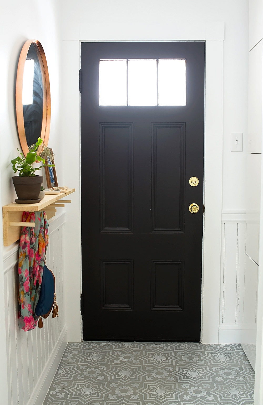 Entryway Makeover Reveal @idlehandsawake