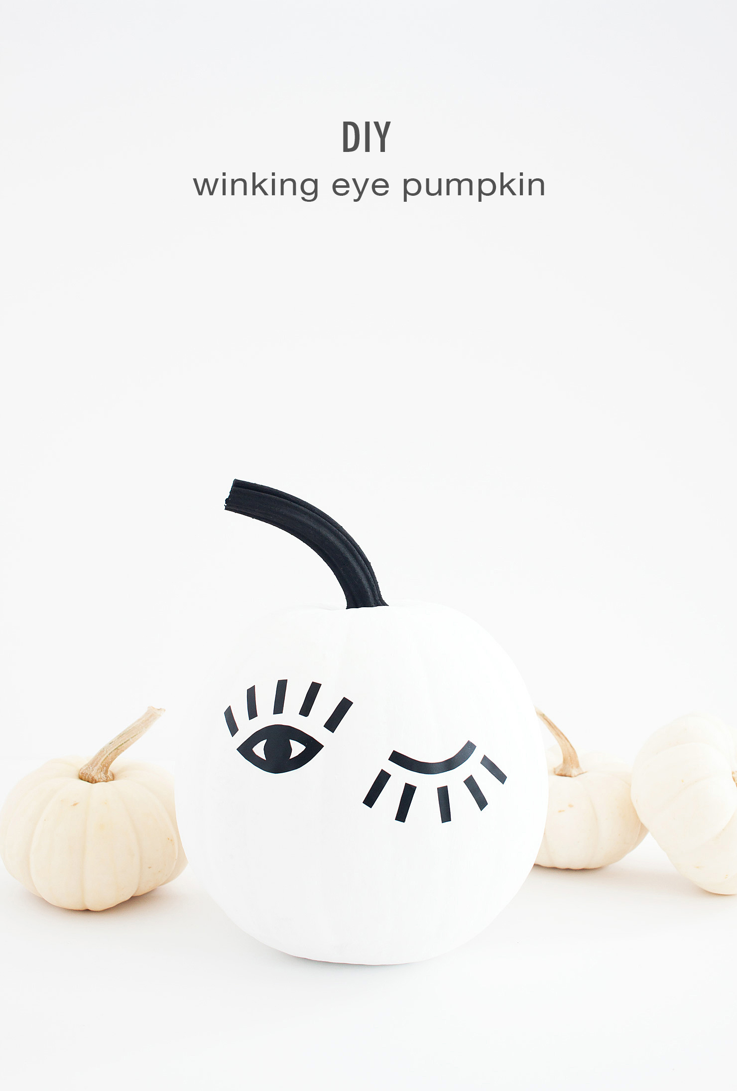 DIY Winking Eye Pumpkin with Printable Template Idle Hands Awake