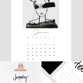 Favorite Free 2017 Calendar Printables @idlehandsawake
