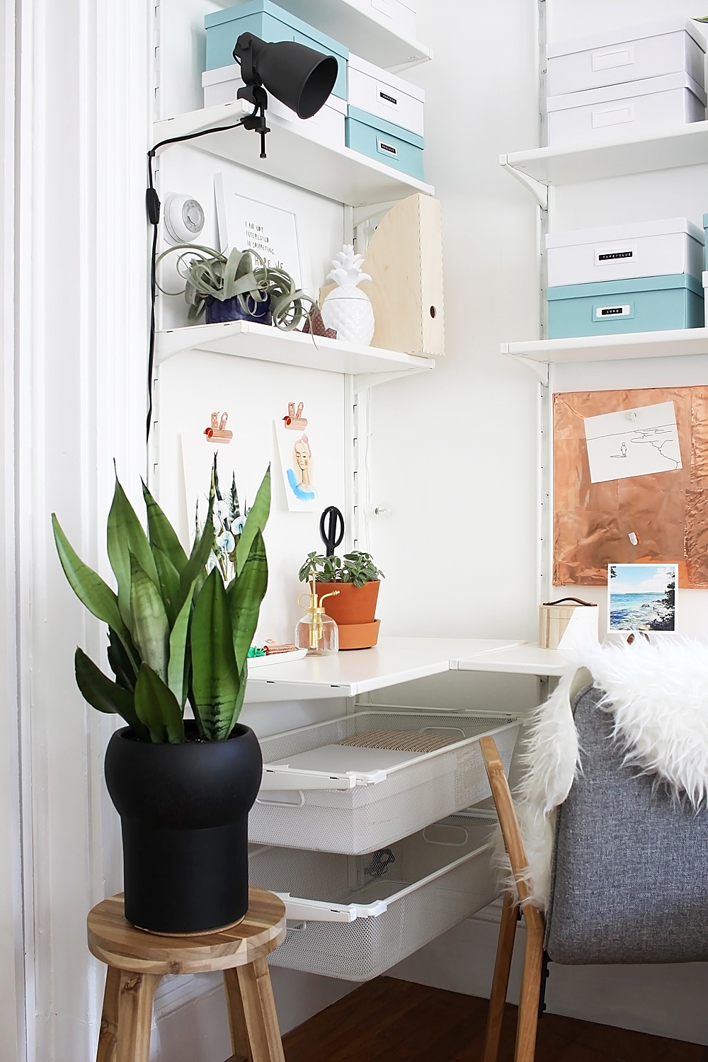 Scandinavian Workspace Makeover -- The Reveal Idle Hands Awake