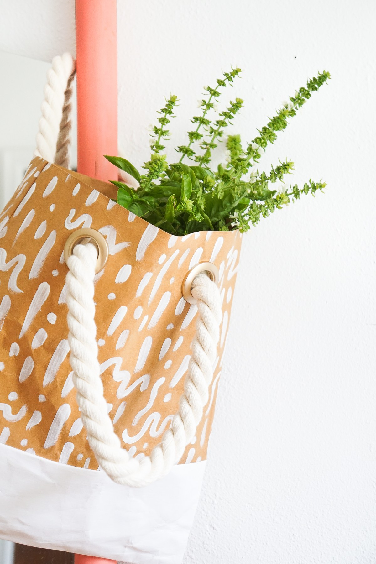 DIY Paper Leather Tote by Francois et Moi