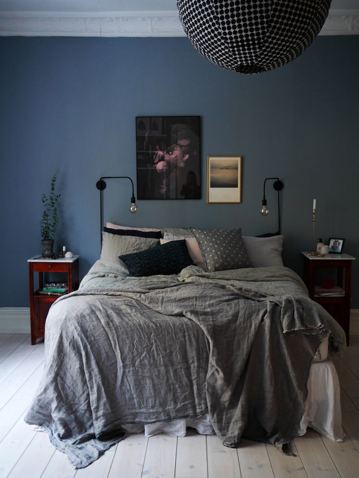Perfectly Dreamy Moody Blue Bedrooms Idle Hands Awake