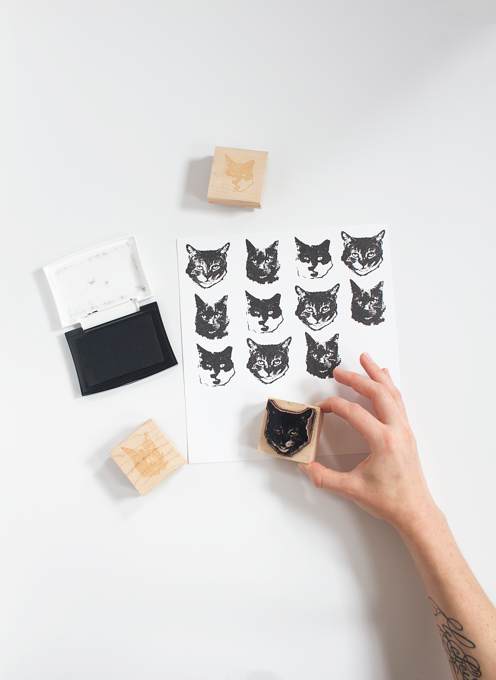See how easy it is to turn a photo into a custom stamp so you can stamp your own DIY wrapping paper, or anything else you want! Makes a great gift too.