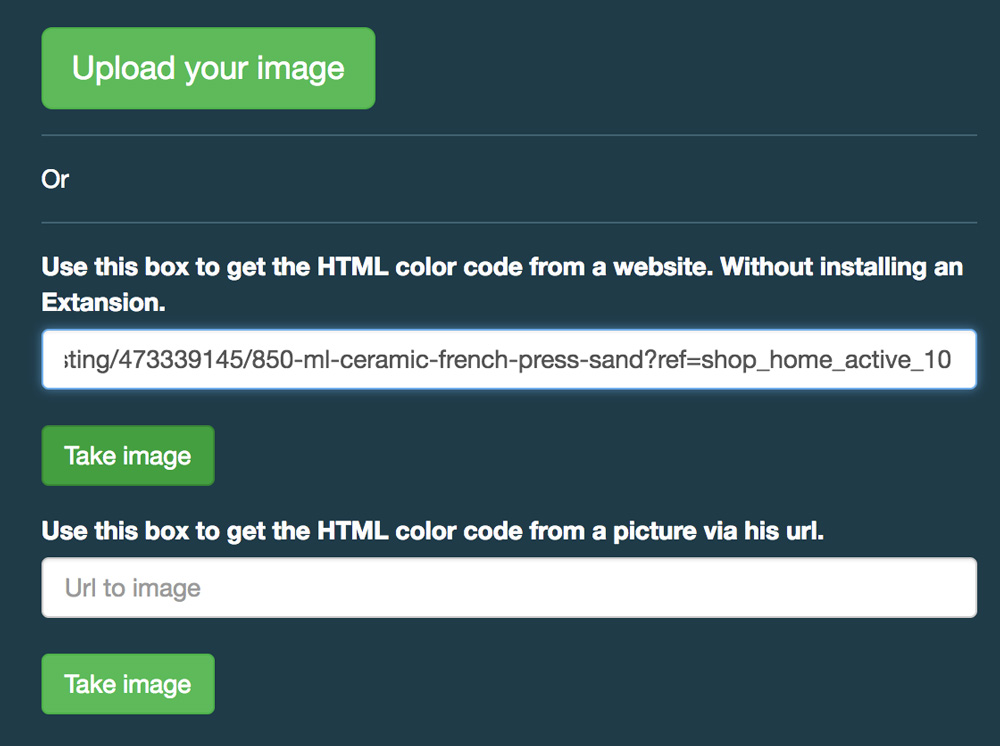 How to use Image Picker to find the hex value for any color