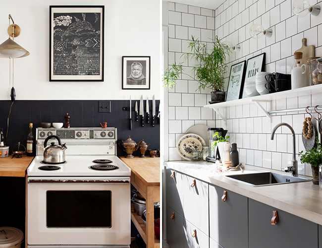 Black White And Wood Kitchen Inspiration