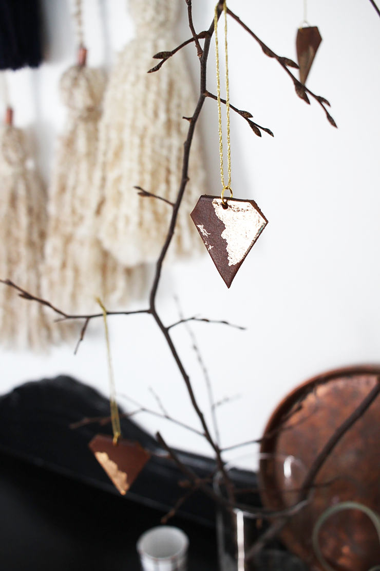 DIY Leather Gemstone Ornaments by Idle Hands Awake