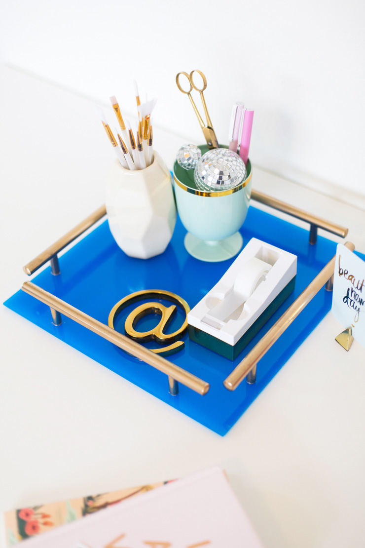 Lovely Indeed - Gold Bar Acrylic Tray