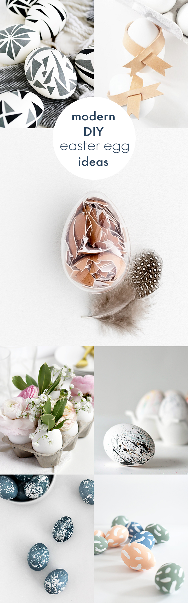 You'll love these sweet and simple modern DIY Easter egg ideas. Click through for more!