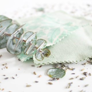 Make these DIY lavender eucalyptus sachets in just 30 minutes using fabric glue!