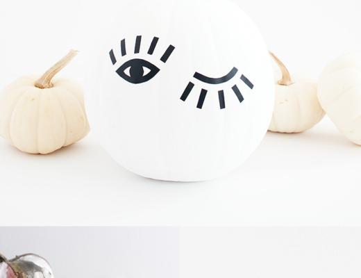 Last Minute No-Carve Pumpkin Decorating Ideas @idlehandsawake