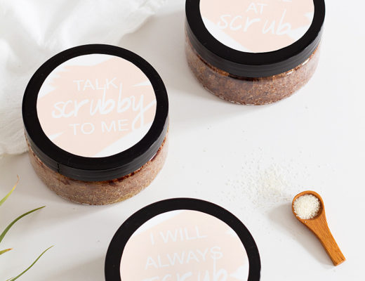 Punny Body Scrub Printables for your Galentines