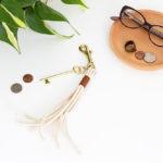 DIY Brass and Leather Keychain @idlehandsawake