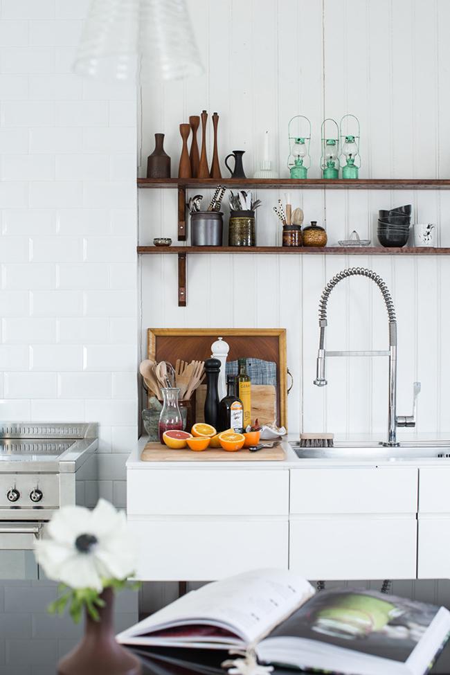 Black, White, and Wood Kitchen Inspiration via Design Sponge