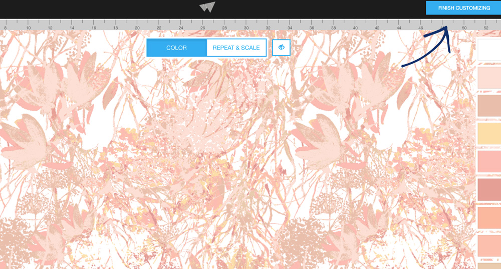 How to customize fabric designs on WeaveUp